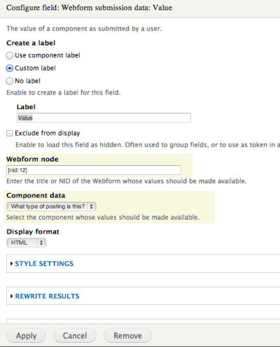 Creating a View from Webform Data | YaleSites