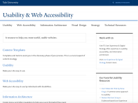 Usability and Web Accessibility Website
